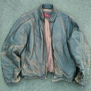 Med Brown Leather Jacket
